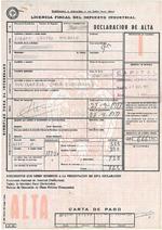 Primera Licencia Fiscal