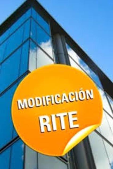 Instalaciones Jurado - Modificaciones del RITE - Instalaciones Jurado, s.a.